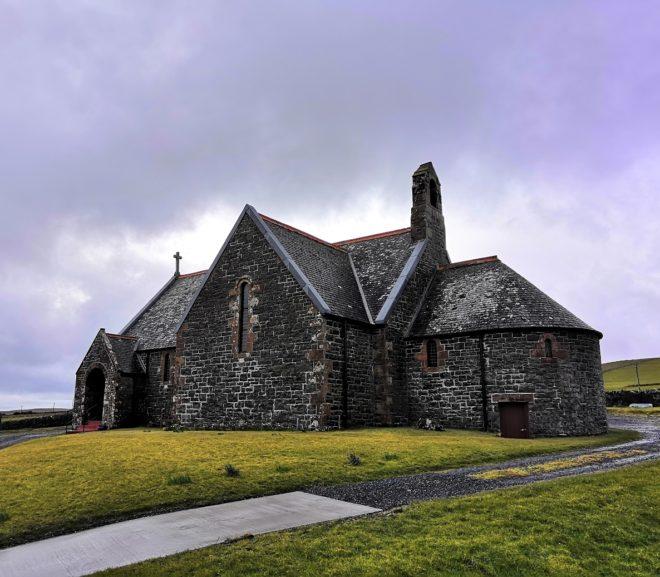 St. Klaran's Church bei Bruichladdich auf Islay (Schottland)